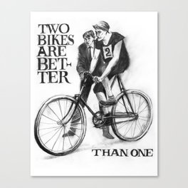 Two Bikes Are Better Than One Canvas Print