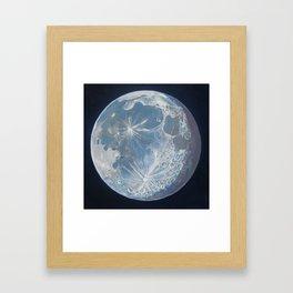 Moon Portrait 6 Framed Art Print