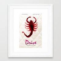 drive Framed Art Prints featuring Drive by Luke Eckstein