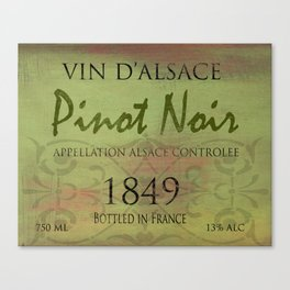 Vintage Wine Label Print (Pinot Noir) Canvas Print