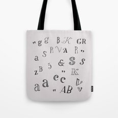 typography Tote Bag
