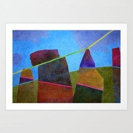 Light in Stone Art Print