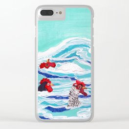 Chicken Dipping Clear iPhone Case