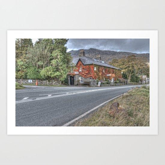 Llanberis Hotel Art Print
