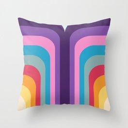 Retro Rainbow 02 Throw Pillow