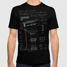 architectural notes Black LARGE Mens Fitted Tee