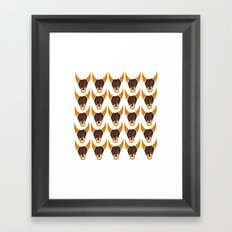 BULL HEAD ILLUSTRATION - SUMMER 2017 Framed Art Print