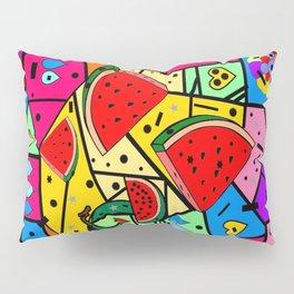 Watermelon Popart by Nico bielow Pillow Sham