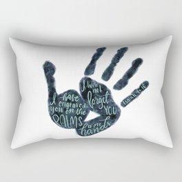 Isaiah 49:16 - Palms of his hands Rectangular Pillow