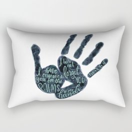 Isaiah 49:16 - Palms of his hands Rectangular Pillow