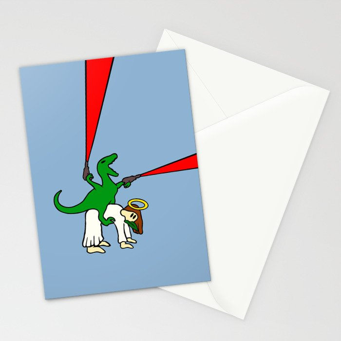 Dinosaur Riding Jesus Stationery Cards
