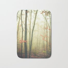 The Woods are Lovely Dark and Deep Bath Mat