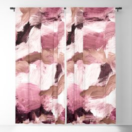 abstract painting VI - coffee and rose Blackout Curtain