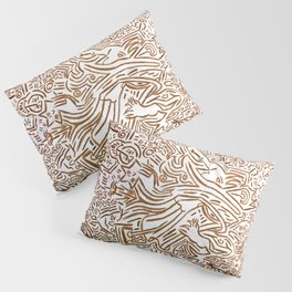 Collective tribal multiverse - orange edition Pillow Sham