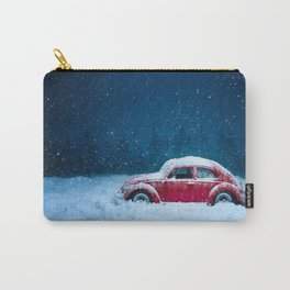 Winter Storm Red Car Carry-All Pouch
