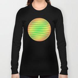 Tricolor 3D Slats Long Sleeve T-shirt