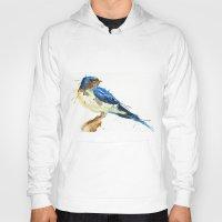 swallow Hoodies featuring Swallow by Meg Ashford