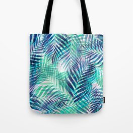 Palm Leaves - Indigo Green Tote Bag
