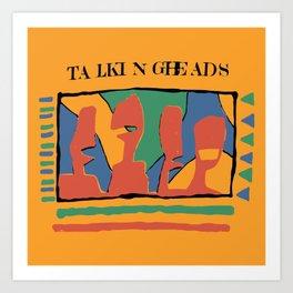 Talking Heads - Yellow Art Print