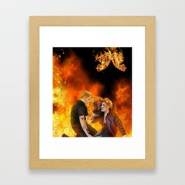 Clace heavenly fire Framed Art Print