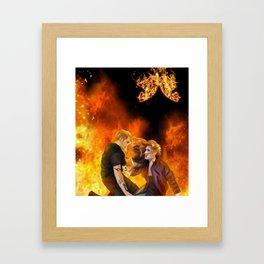 Clace heavenly fire Framed Art Print
