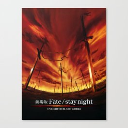 Fate Stay Night UBW Canvas Print