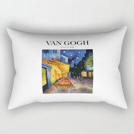 Van Gogh - Terrace at night Rectangular Pillow