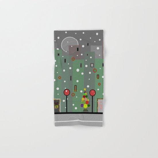 City Christmas Hand & Bath Towel