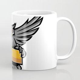 Owl Holding Banner Mascot Coffee Mug