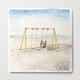 Swing at the North Sea Metal Print