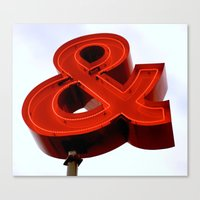 ampersand Canvas Prints featuring Ampersand by Ann Yoo