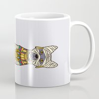 returns Mugs featuring Ancient Cat Returns by Fathi