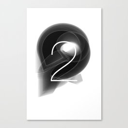 Number 2. Dark Math.  Canvas Print