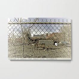 Providence Postcard Project: Abandoned Lot, Marengo Street, Jewelry District Metal Print