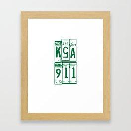 KSA Framed Art Print