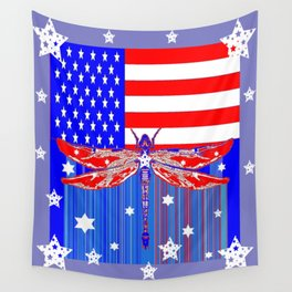 Red-White & Blue 4th of July Celebration Art Wall Tapestry