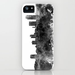 Little Rock skyline in black watercolor on white background iPhone Case