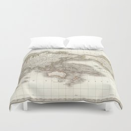 Vintage Map of The World (1832) Duvet Cover