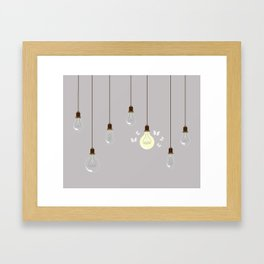 Light Bulbs Framed Art Print