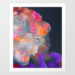 Orage (Colorful clouds in the sky III) Art Print