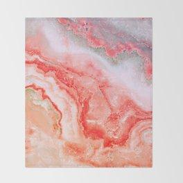 Luxury LIVING CORAL Agate Marble Geode Gem Throw Blanket