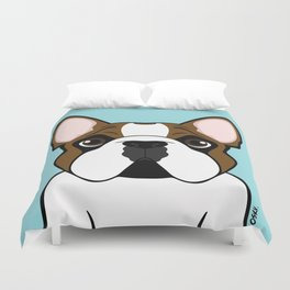 Frenchie - Fawn Pied Duvet Cover