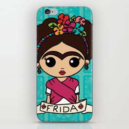 Frida with Flowers iPhone Skin