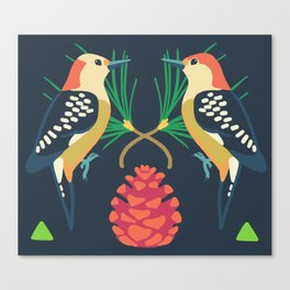 Red-bellied Woodpecker + Red Pine Canvas Print