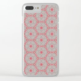 V28 Moroccan Pattern Design. Clear iPhone Case
