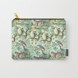 Tropical Jungle - Mint Carry-All Pouch