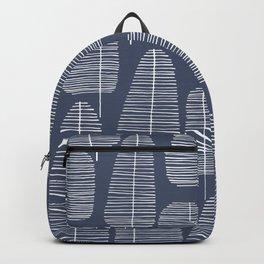Mid Century Trees Blue Backpack
