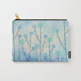Blue Field of Flowers Carry-All Pouch