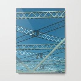 Old Tappan Zee Bridge over the Hudson River in Tarrytown New York Metal Print