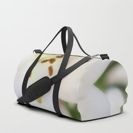 White Lily Duffle Bag